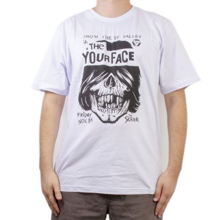 Camiseta Your Face Ramones Branca