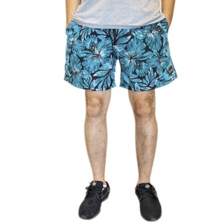 Shorts Floral Azul
