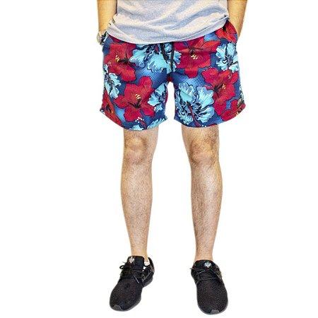 Shorts Floral Vermelho