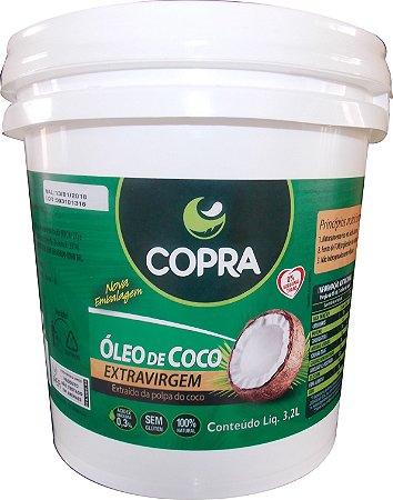 Óleo de Coco Extra Virgem Balde 3,2 litros Copra