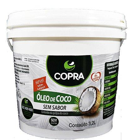 Óleo de Coco Sem Sabor Balde 3,2 litros Copra
