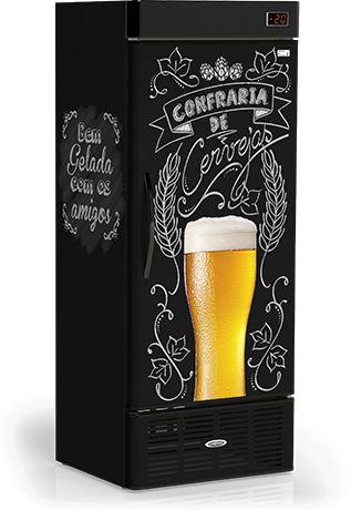 Cervejeira Vertical Adesivo Lousa De Bar CRV-570B - 220v