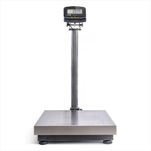 Balança Elétrica Inox com Bateria 300kg (2099) - Com Coluna