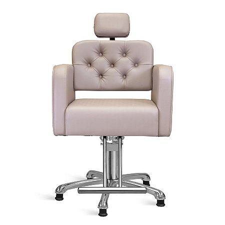 Cadeira de Cabeleireiro Módena Encosto Reclinável com Cabeçote