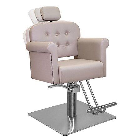 Cadeira de Cabeleireiro Vernazza Encosto Reclinável com Cabeçote