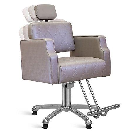 Cadeira de Cabeleireiro Treviso Encosto Reclinável com Cabeçote