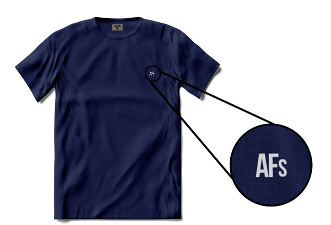 •T-shirt AFs Basic - Azul Marinho•