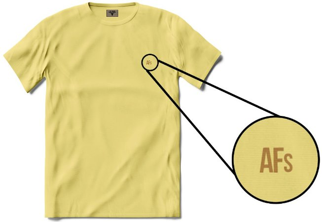 •T-shirt AFs Basic - Amarela•