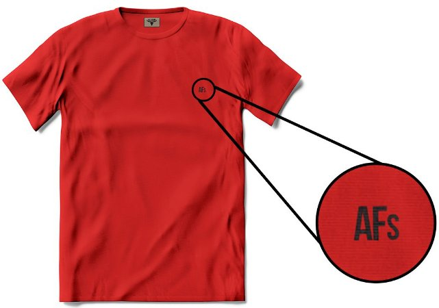 •T-shirt AFs Basic - Vermelha•