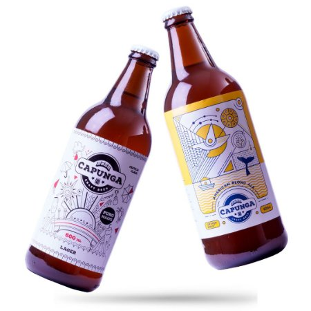 6 CAPUNGA LAGER 600ML + 6 CAPUNGA BLOND ALE 600ML
