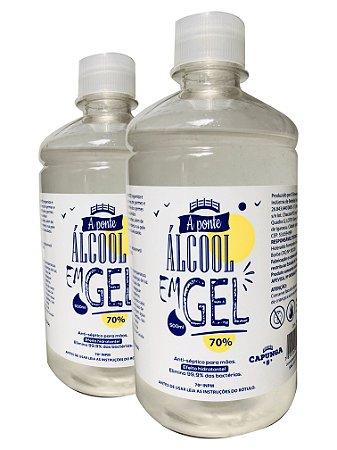 6 unidades Álcool em gel 500ML - A PONTE