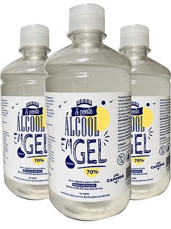 12 unidades Álcool em gel 500ML - A PONTE