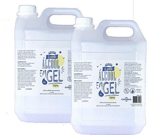 2 unidades Álcool em gel 5L - A PONTE