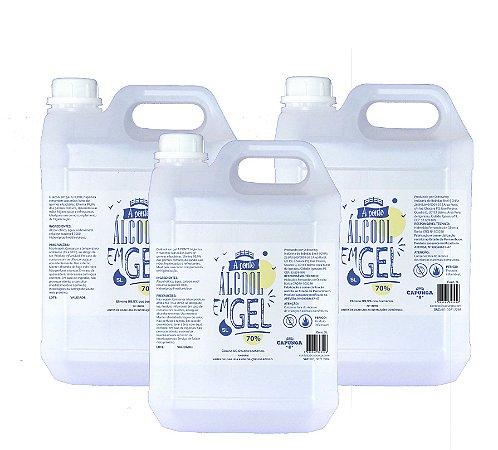 3 unidades Álcool em gel 5L - A PONTE (OFERTA: SÓ HOJE)