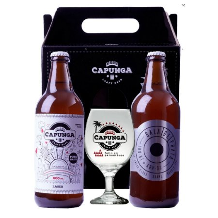 KIT CAPUNGA LAGER 600ML + BALA DE PRATA 600ML + TAÇA GALLANT