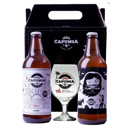 KIT CAPUNGA LAGER 600ML + CUMADE FLORZINHA 600ML + TAÇA GALLANT