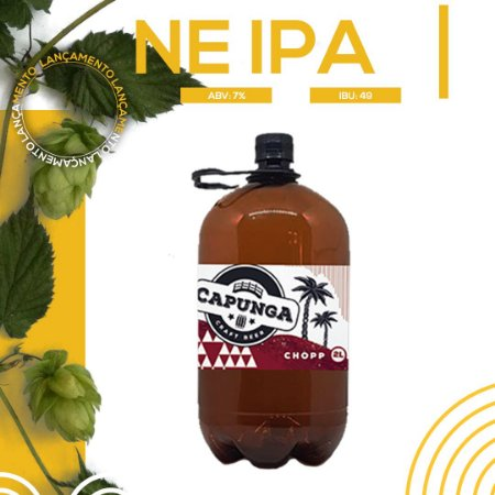 2 LITROS CHOPP CAPUNGA NE IPA - PET GROWLER INCLUSO