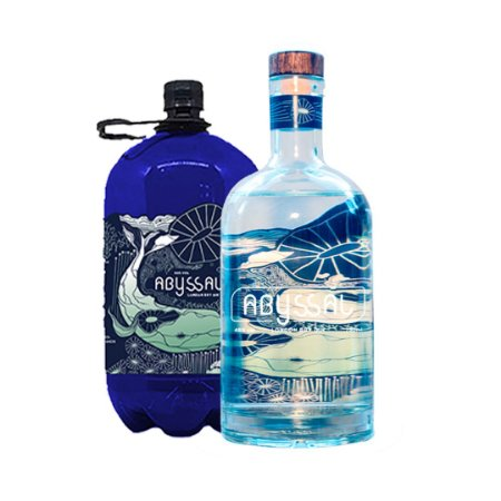 COMBO GIN ABYSSAL 750ml + 2 LITROS GIN ABYSSAL REFIL - EMBALAGEM INCLUSA (LANÇAMENTO)