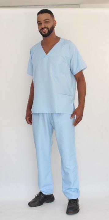 Pijama Cirúrgico Azul Fresh Masculino