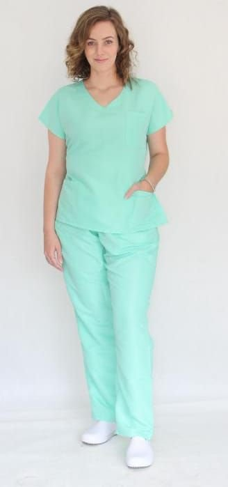 Pijama Cirúrgico Verde Acqua Feminino