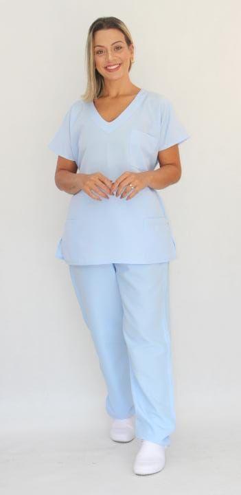 Pijama Cirúrgico Azul Fresh Feminino