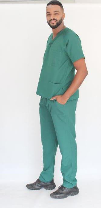 Pijama Cirúrgico Verde Floresta Masculino