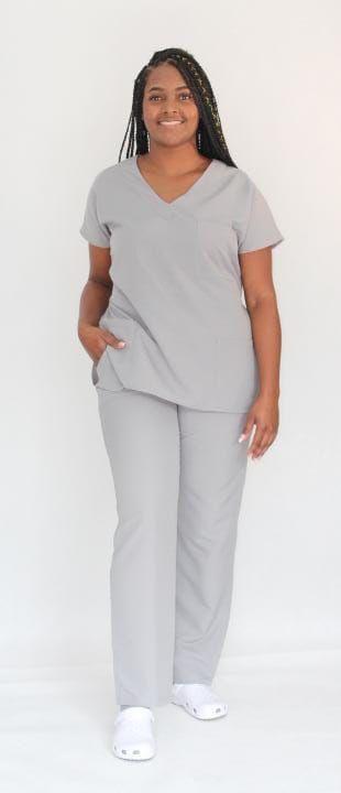 Pijama Cirúrgico Cinza Concreto Feminino