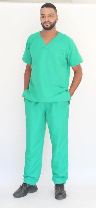 Pijama Cirúrgico Verde Bandeira Masculino