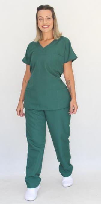 Pijama Cirúrgico Verde Floresta Feminino