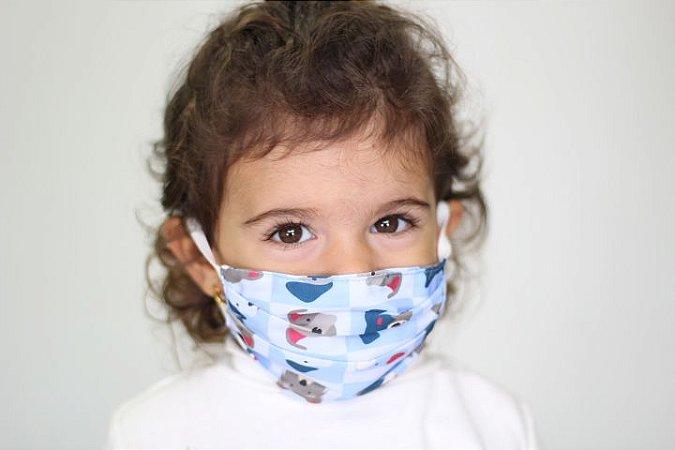 Máscara Infantil Doguinhos (para crianças de 2 a 5 anos)