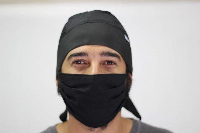 Conjunto de Bandana e Máscara Preta