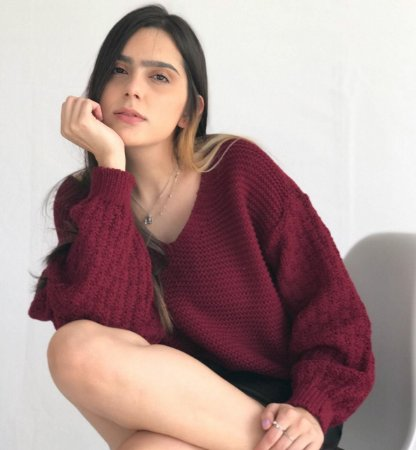 Suéter Tricô - Vinho