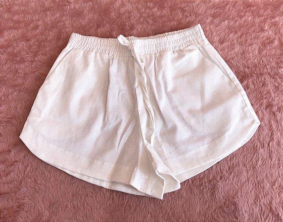 Short Linho - Off White