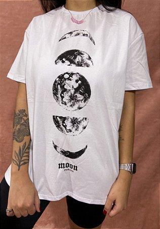 Camiseta Moon Phases - Branca