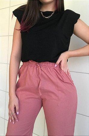Calça Jogger - Rosê