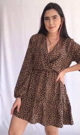 Vestido Envelope - Onça