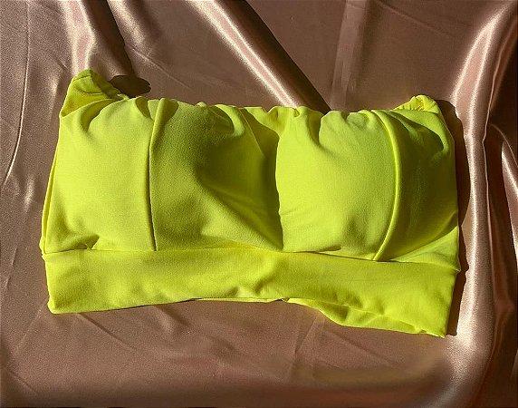 Cropped Faixa - Amarelo Neon