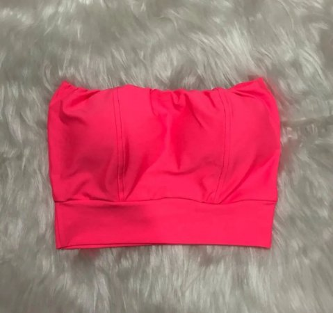 Cropped Faixa - Rosa Neon
