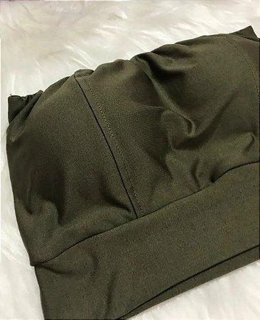Cropped Faixa - Verde Militar