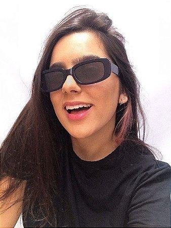 Óculos de Sol Retangular - Azul