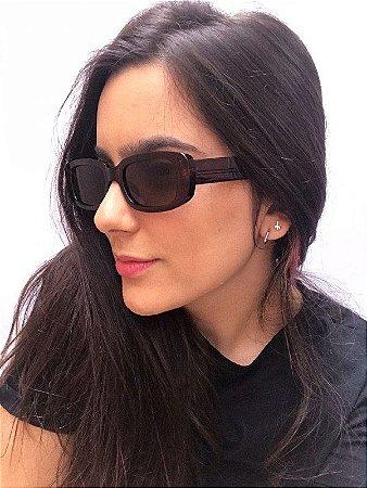 Óculos de Sol Retangular - Marron