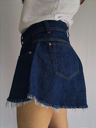 Short Godê Jeans - Escuro