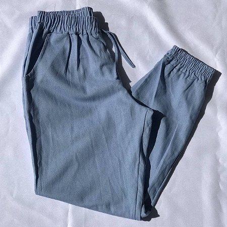 Calça Jogger Linho - Azul Claro