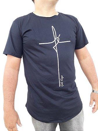 d9af01431 Camiseta long line fé plus size M F - tm6store