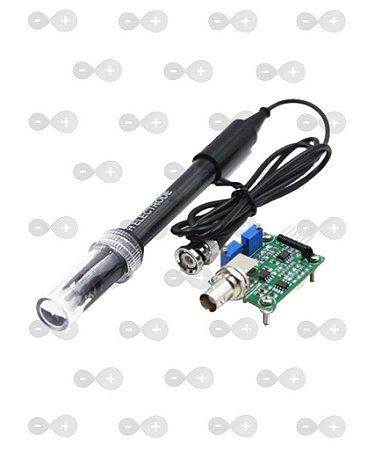 Arduino Eletrodo De Ph Combinado Liquido 0-14 + Módulo Bnc