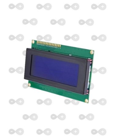 DISPLAY LCD 20X4 FUNDO AZUL ESCRITA BRANCA