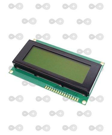 DISPLAY LCD 20X4 FUNDO VERDE ESCRITA PRETA