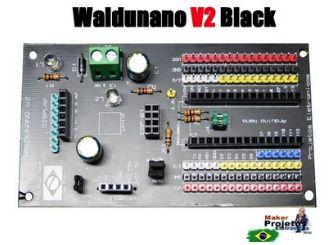 WALDUNANO V2  BLACK - A PLACA PARA TODOS OS PROJETOS (IoT)