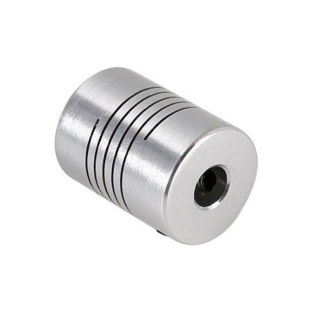 Acoplamento Flexível De Alumínio Para Motor de Passo 6,35X8mm