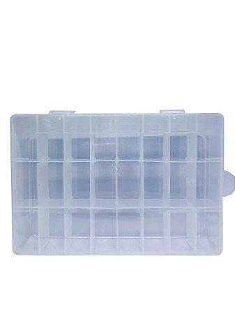 Caixa Plástica 24 Divisórias 19*12.5*3.3CM